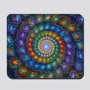 Fractal Spiral Beads Shirt Mousepad